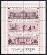 Barbuda MNH Scott #592 Sheet Of 6 Error 45c And 50c Surcharges On Wrong Stamps - Royal Wedding - Antigua Et Barbuda (1981-...)