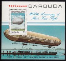 Barbuda MNH Scott #581 Souvenir Sheet $5 Graf Zeppelin - Bicentenary Of 1st Manned Balloon Flight - Antigua Et Barbuda (1981-...)