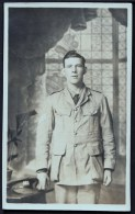 Real Photo-postcard Of An Unknown Soldier,  Unused,  C1920. - Personajes