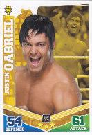 Carte CATCH SLAM ATTAX MAYHEM NXT JUSTIN GABRIEL - Trading Cards