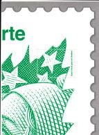 2013 - Marianne Lettre Verte En A4 - Quart Supérieur Droit - Andere