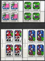 Canada 1973 - Christmas Blocks Of 4 SG764-767 MNH Cat £5.60 SG2015 - Unused Stamps