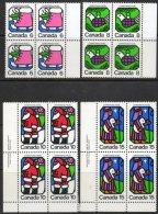 Canada 1973 - Christmas Blocks Of 4 SG764-767 MNH Cat £5.60 SG2015 - 1952-.... Reign Of Elizabeth II