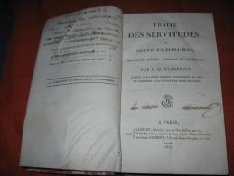 Traite Des Servitudes Ou Services Fonciers - J M Pardessus 1817 - Bücher, Zeitschriften, Comics