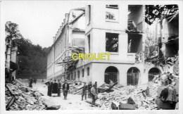 Le Creusot Guerre 39-45, Carte Photo N° 8, Bombardements 20 Juin 1943, Ecoles Speciales Rue De Reims, Beau Document - Le Creusot