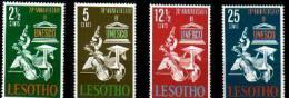 LESOTHO 1966 Mint Hinged Stamp(s) Unesco 21-24 #2601 - UNESCO