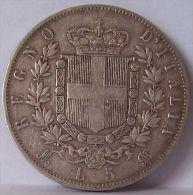 Vittorio Emanuele II 5 Lire 1874 - Argento - 1861-1878 : Vittoro Emanuele II