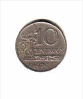 BRAZIL   10  CENTAVOS  1970  (KM # 578.2) - Brazil
