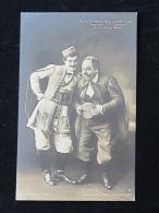 Die Lustige Witwe Echt Foto Ca 1907 Danilo (Rudolf Seibold)Njegus(JosefLudl) Im Kostüm - Opera