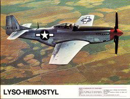"""North American - P 51 Mustang - Publicité """" Lyso-Hemostyl """" - Réservé Au Corps Médical - Vliegtuigen"""