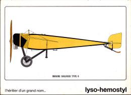 """Morane Saulnier Type G  - Publicité """" Lyso-Hemostyl """" - Réservé Au Corps Médical - Flugzeuge"""