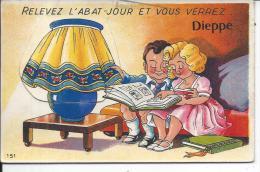 DIEPPE - Relevez L'Abat-jour Et Vous Verrez Dieppe - CARTE A SYSTEMES - Dieppe
