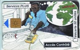 ***Télécarte à Puce Du BENIN   Accès Contrôlé   50Unités Vide B  A Saisir *** - Bénin