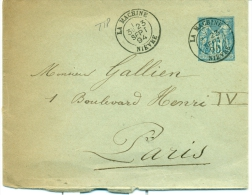 NIEVRE - ENTIER TYPE SAGE OBLITERE TYPE 18 LA MACHINE - - 1877-1920: Période Semi Moderne