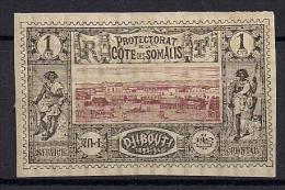 COSTA FRANCESA DE SOMALIA, YVERT 6  (*), AÑO 1894 - 1900, COLONIAS FRANCESAS - Frans-Somaliland (1894-1967)