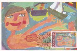 YUGOSLAVIA  --  CARTE MAXIMUM + FDC ( PRVI DAN )  --    HEIKO JAKEL, BERLIN 7 JAHR  --  JOY OF EUROPE, BELGRAD - Maximum Cards