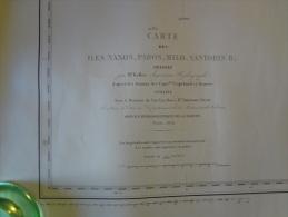 Carte Marine - 1935 - Iles Naxos, Paros, Milo, Santorin - Dressée Par Keller D'après Copeland Et Graves - Nautical Charts