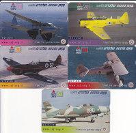 Israel, BZ-285 - 289, Set Of 5 Cards, Airplanes, 2 Scans. - Israel