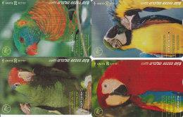 Israel, BZ-292 - 295, Set Of 4 Cards, Parrots, 2 Scans. - Israel