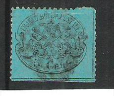Italy Papal State 1868 Definitive  Perforated Mi.Nr.35 Used - Etats Pontificaux