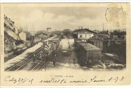 Carte Postale Ancienne Culoz - La Gare - Chemin De Fer - Frankrijk