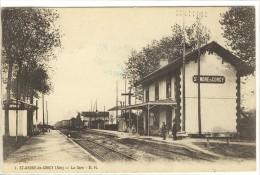 Carte Postale Ancienne Saint André De Corcy - La Gare - Chemin De Fer - Francia