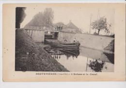 BRETENIERES 21 L´ECLUSE ET LE CANAL PENICHE BELLE CARTE ANIMEE RARE !!! - Dijon