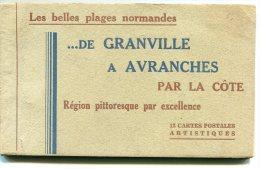 MANCHE Carnet Neuf Et Complet De 12 CP De Couleur Sépia De GRANVILLE  A AVRANCHES éditeur LE GOUBEY - Sin Clasificación