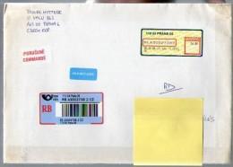 Lettre Cover Recommandée Rép. Tchèque Tchéquie Tchécoslovaquie Ceska Etiquette Praha Pragues Du 28-12-2009 - Tchéquie