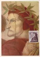 Carte Maximum MALTE  N°Yvert 324 (RAPHAEL -  DANTE) Obl Sp 1966 - Malta