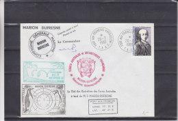 France - Colonies - TAAF -  Lettre De 1980 - Courrier Posté à Bordr  - Oblitération Spéciale - Avec Signaure - Pinguins - Cartas