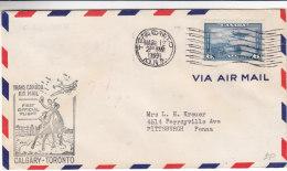 Canada - Lettre De 1939 - 1er Vol Spécial - Chevaux - Avions - Bateaux -  Oblitération Toronto - 1911-1935 Règne De George V