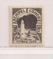 COMORE  ( FRCOM - 11 )  1950  N° YVERT ET TELLIER  TAXE   N° 2  N** - Autres