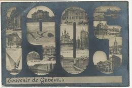 Souvenir Geneve Montage Photo 1905 Millesime Pli Coin Sup. Gauche - GE Geneva
