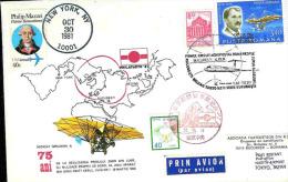 Cover, Romania, Airmail, First Aeropostal Circuit Bucuresti-Beijing-Tokyo-New York-Bucuresti, IL-62, PHILATOKyO '81 - Airmail