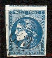 N° 46A BORDEAUX 20c AVEC TRES BELLE VARIETE TRAIT BLANC EN HAUT OBLITERE - 1870 Emission De Bordeaux