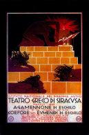 TEATRO GRECO DI SIRACUSA - AGAMENNONE DI ESCHILO COEFORE E EUMENIDI DI ESCHILO 1948 - Siracusa