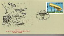 Postcard, Romania,  Special Cancellation, Balloon, 80 Years Since The Foundation Of Romanian Military Aeronautics - Airmail