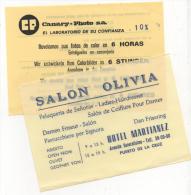 Alt286 Pubblicitari, Promotion, Anni´70, Laboratorio Foto, Parrucchiere, Isole Canarie, Puerto De La Cruz - Altre Collezioni