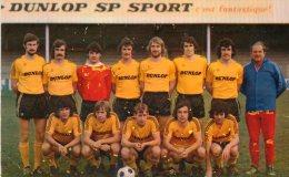 CPA MONTLUCON. équipe De Football 1974.  DUNLOP. Match Contre Martigues. Dos Scanné. - Montlucon