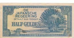 INDONESIA JAPAN Banknotes 1/2 Gulden 1942 SL B573 - Indonesië