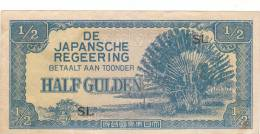 INDONESIA JAPAN Banknotes 1/2 Gulden 1942 SL B573 - Indonesia