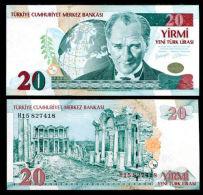 TURKEY 20 NEW LIRA 2005 P 219 AU-UNC - Turquie