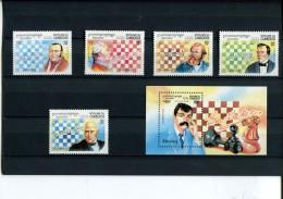 219 451 831 schaken  cambodia  posttfris mint never hinged postfrisch ohne falz yvert 1215 - 1219 + bf 111