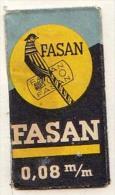 RAZOR BLADE RASIERKLINGE FASAN 0.08 M /m - Rasierklingen
