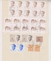 Type Velghe COB 2126 - 2127 Et 2069 Sur Document De La Poste Bordereau De Remise D´envoi - Belgien
