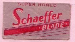 RAZOR BLADE SCHAEFFER  BLADE SUPER - HONED - Rasierklingen