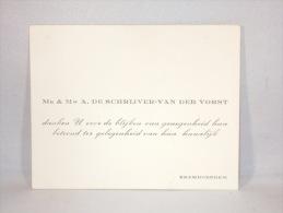 Carte De Visite. Erembodegem. De Schrijver-Van Der Vorst. - Cartes De Visite