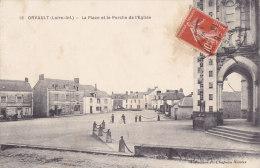 ¤¤  -   16   -   ORVAULT    -   La Place Et Le Porche De L'Eglise   -  ¤¤ - Orvault