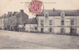 """¤¤  -   1884   -   ORVAULT    -   Un Coin De La Place  -  Hotel Des Voyageurs """" Bouvier """"     -  ¤¤ - Orvault"""